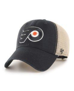 Philadelphia Flyers 47 Brand Black MVP Mesh Snapback Hat
