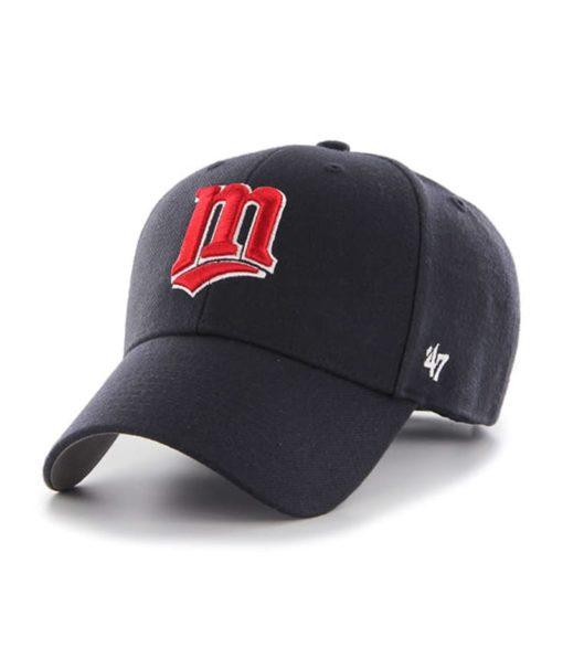 Minnesota Twins 47 Brand Cooperstown Navy MVP Adjustable Hat