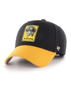 Pittsburgh Pirates 47 Brand Cooperstown Black Yellow MVP Adjustable Hat