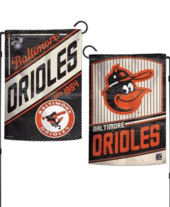Baltimore Orioles 12.5″x18″ 2 Sided Cooperstown Garden Flag