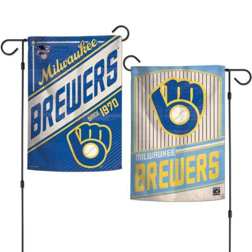 Milwaukee Brewers 12.5″x18″ 2 Sided Cooperstown Garden Flag