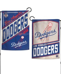 Los Angeles Dodgers 12.5″x18″ 2 Sided Cooperstown Garden Flag