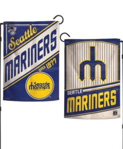 Seattle Mariners 12.5″x18″ 2 Sided Cooperstown Garden Flag