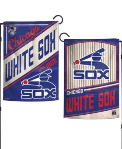 Chicago White Sox 12.5″x18″ 2 Sided Cooperstown Garden Flag