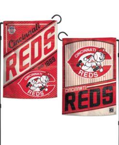 Cincinnati Reds 12.5″x18″ 2 Sided Cooperstown Garden Flag