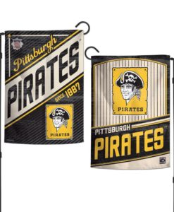 Pittsburgh Pirates 12.5″x18″ 2 Sided Cooperstown Garden Flag