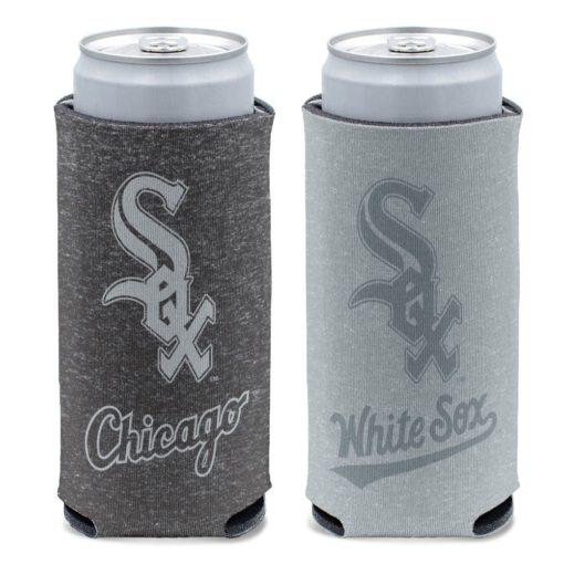 Chicago White Sox 12 oz Heather Black Gray Slim Can Cooler Holder