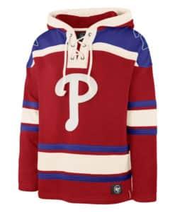 Philadelphia Phillies Men's 47 Brand Red Pullover Jersey Hoodie
