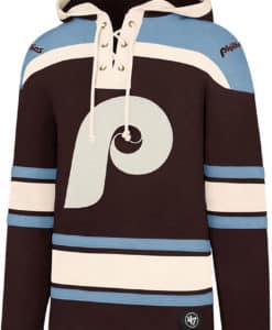 Philadelphia Phillies Men's 47 Brand Dark Maroon Pullover Jersey Hoodie