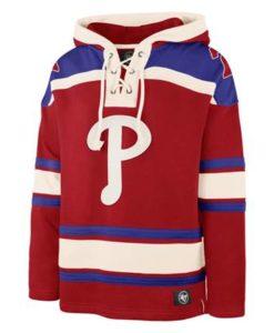 Philadelphia Phillies Men's 47 Brand Vintage Red Pullover Jersey Hoodie