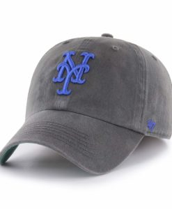 New York Mets 47 Brand Graphite Franchise Fitted Hat