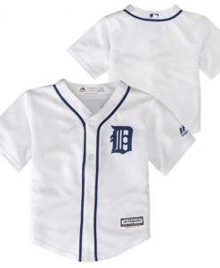 Detroit Tigers Baby TODDLER Majestic White Home Jersey