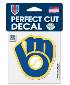 Milwaukee Brewers 4″x4″ Cooperstown Perfect Cut Color Decal