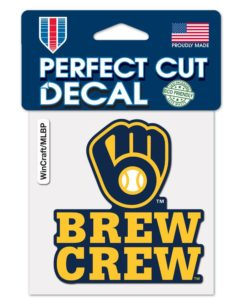 Milwaukee Brewers 4″x4″ Brew Crew Perfect Cut Color Decal
