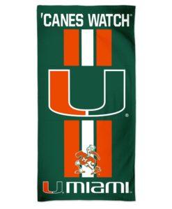 "Miami Hurricanes 30"" x 60"" Fiber Beach Towel"