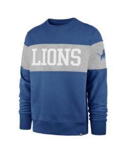 Detroit Lions Men's 47 Brand Blue Raz Crew Long Sleeve Pullover