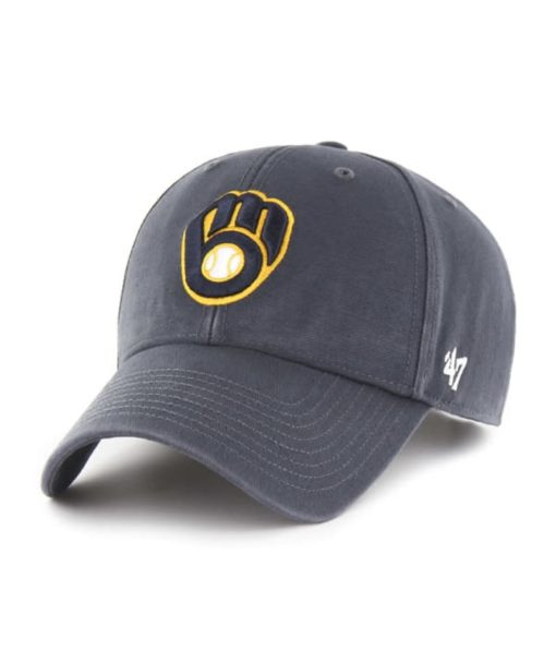 Milwaukee Brewers 47 Brand Vintage Navy Legend MVP Adjustable Hat