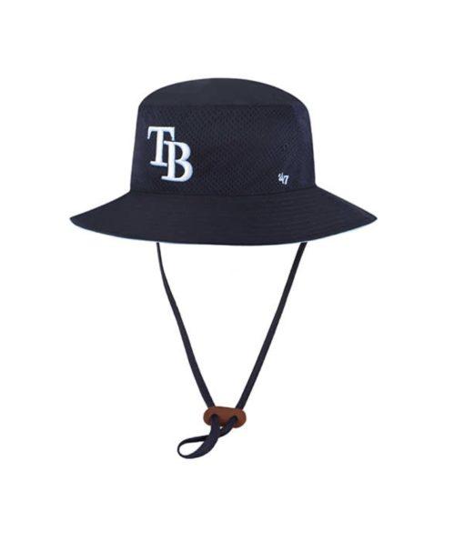 Tampa Bay Rays 47 Brand Navy Panama Bucket Hat