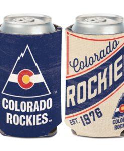 Colorado Rockies 12 oz Blue Cream Vintage Can Cooler Holder