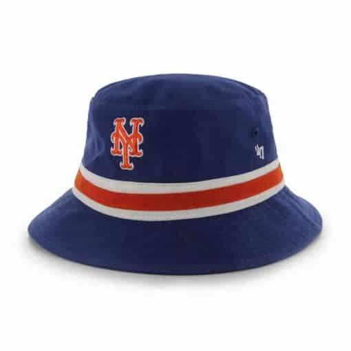 New York Mets 47 Brand Blue Striped Bucket Hat