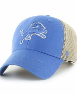 Detroit Lions 47 Brand Blue Raz Khaki Mesh MVP Snapback Hat
