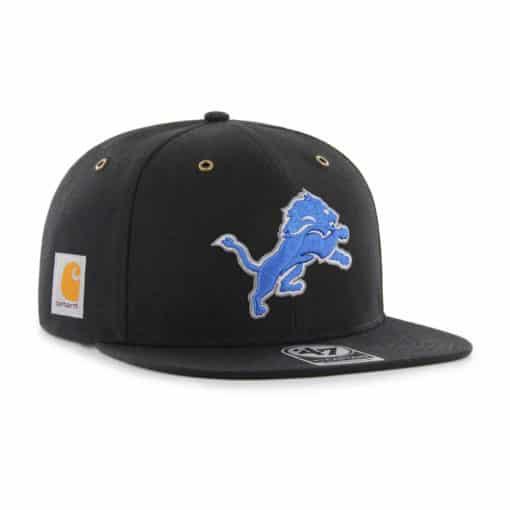 Detroit Lions Carhartt 47 Brand Captain Black Adjustable Hat