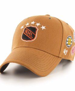 Original Six Carhartt 47 Brand Brown MVP Snapback Adjustable Hat