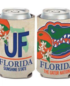 Florida Gators 12 oz State Plate Can Cooler Holder
