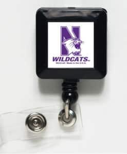 Northwestern Wildcats White Retractable Badge Holder