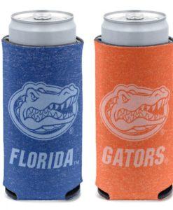 Florida Gators 12 oz Heather Blue Orange Slim Can Cooler Holder