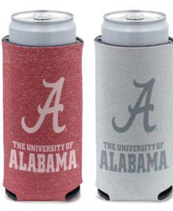 Alabama Crimson Tide 12 oz Heather Crimson Slim Can Cooler Holder