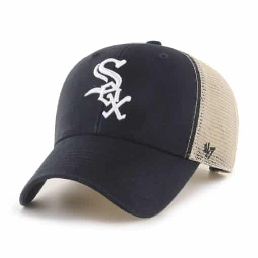 Chicago White Sox 47 Brand Black MVP Mesh Snapback Hat