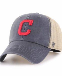 Cleveland Indians 47 Brand Vintage Navy MVP Mesh Snapback Hat