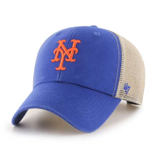 New York Mets 47 Brand Blue MVP Mesh Snapback Hat
