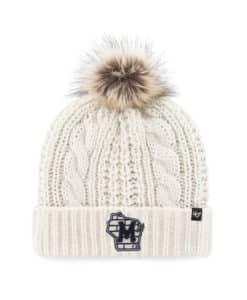 Milwaukee Brewers Women's 47 Brand Cooperstown White Cream Meeko Cuff Knit Hat