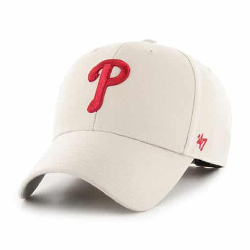 Philadelphia Phillies 47 Brand Bone MVP Adjustable Hat