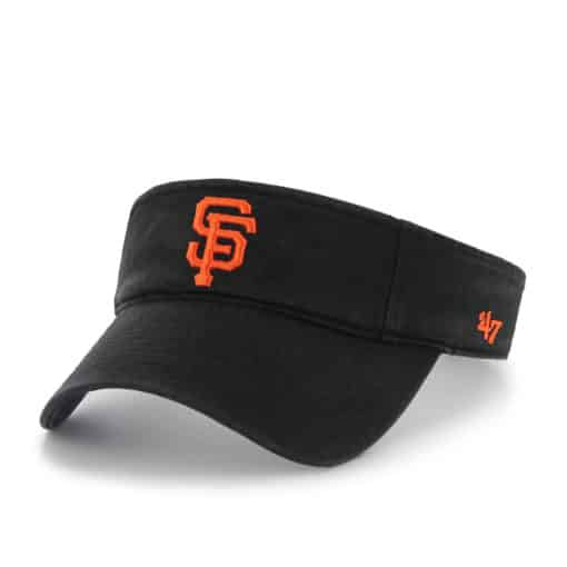 San Francisco Giants 47 Brand Black VISOR Clean Up Adjustable Hat
