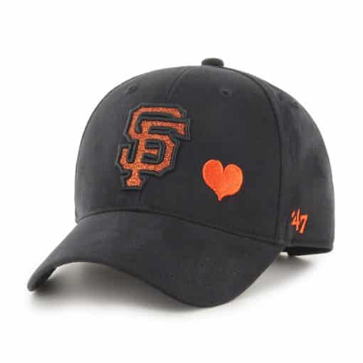 San Francisco Giants YOUTH 47 Brand Black Sugar Sweet MVP Adjustable Hat