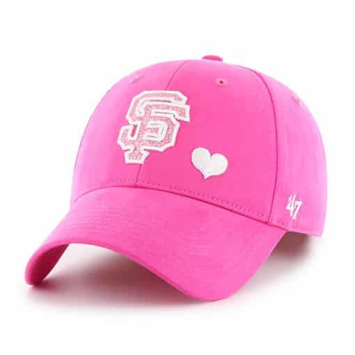 San Francisco Giants KIDS Girls 47 Brand Pink Sugar Sweet MVP Adjustable Hat