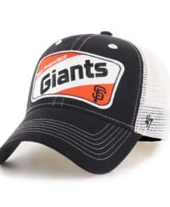 San Francisco Giants KIDS 47 Brand Black Woodlawn MVP Adjustable Hat