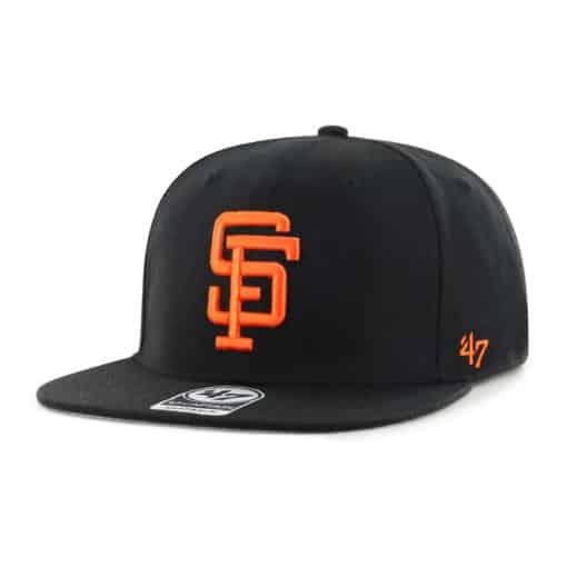 San Francisco Giants 47 Brand Cooperstown Black No Shot Captain Snapback Hat