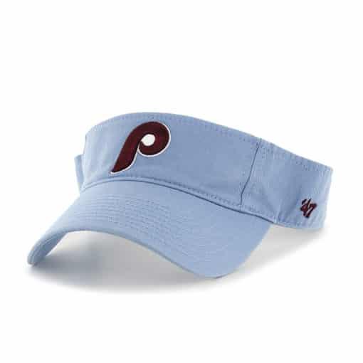 Philadelphia Phillies 47 Brand Columbia VISOR Clean Up Adjustable Hat