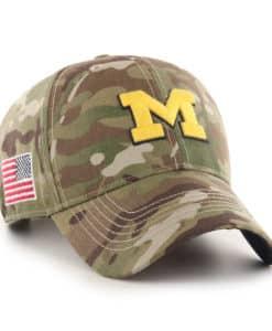 Michigan Wolverines 47 Brand Multicam Camo OHT MVP Adjustable Hat