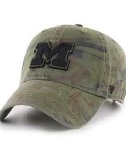 Michigan Wolverines 47 Brand Sandalwood Camo OHT Clean Up Adjustable Hat