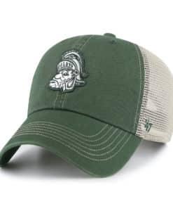 Michigan State Spartans 47 Brand Vintage Trawler Dark Green Clean Up Mesh Snapback Hat