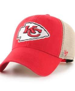 Kansas City Chiefs 47 Brand Red Khaki Mesh MVP Snapback Hat