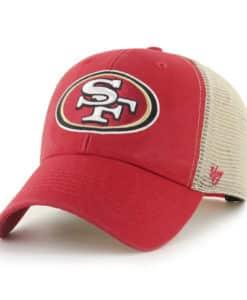 San Francisco 49ers 47 Brand Red Khaki Mesh MVP Snapback Hat