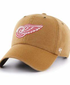 Detroit Red Wings Carhartt 47 Brand Brown Clean Up Adjustable Hat