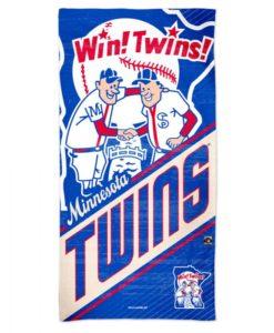 "Minnesota Twins 30"" x 60"" Cooperstown Spectra Beach Towel"