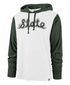 Michigan State Spartans Men's 47 Brand White Hoodie Pullover Long Sleeve Tee